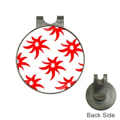 Star Figure Form Pattern Structure Hat Clips With Golf Markers