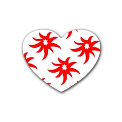 Star Figure Form Pattern Structure Heart Coaster (4 Pack)