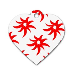 Star Figure Form Pattern Structure Dog Tag Heart (two Sides)
