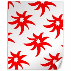 Star Figure Form Pattern Structure Canvas 11  X 14