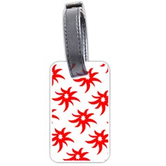Star Figure Form Pattern Structure Luggage Tags (one Side)