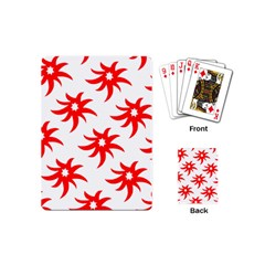Star Figure Form Pattern Structure Playing Cards (mini)