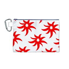 Star Figure Form Pattern Structure Canvas Cosmetic Bag (m)