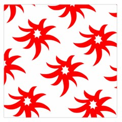 Star Figure Form Pattern Structure Large Satin Scarf (square)