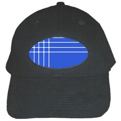Stripes Pattern Template Texture Blue Black Cap