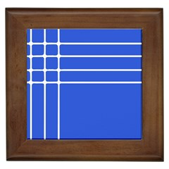 Stripes Pattern Template Texture Blue Framed Tiles