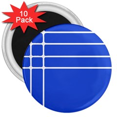 Stripes Pattern Template Texture Blue 3  Magnets (10 Pack)