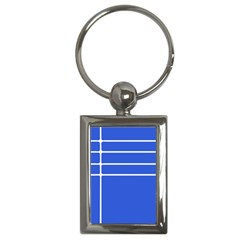 Stripes Pattern Template Texture Blue Key Chains (rectangle)