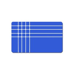Stripes Pattern Template Texture Blue Magnet (name Card)