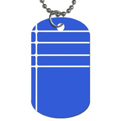 Stripes Pattern Template Texture Blue Dog Tag (one Side)