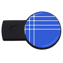 Stripes Pattern Template Texture Blue Usb Flash Drive Round (2 Gb)