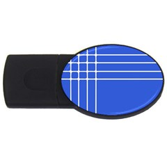 Stripes Pattern Template Texture Blue Usb Flash Drive Oval (4 Gb)