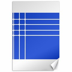 Stripes Pattern Template Texture Blue Canvas 20  X 30