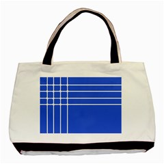 Stripes Pattern Template Texture Blue Basic Tote Bag (two Sides)
