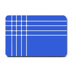 Stripes Pattern Template Texture Blue Small Doormat