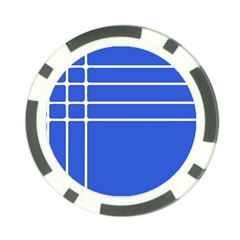 Stripes Pattern Template Texture Blue Poker Chip Card Guard