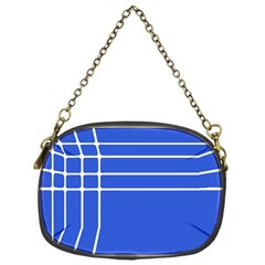 Stripes Pattern Template Texture Blue Chain Purses (one Side)