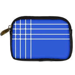 Stripes Pattern Template Texture Blue Digital Camera Cases