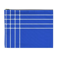 Stripes Pattern Template Texture Blue Cosmetic Bag (xl)