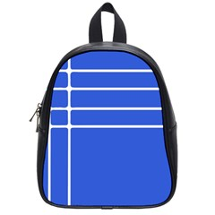 Stripes Pattern Template Texture Blue School Bag (small)