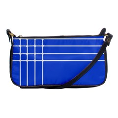 Stripes Pattern Template Texture Blue Shoulder Clutch Bags