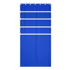 Stripes Pattern Template Texture Blue Shower Curtain 36  X 72  (stall)