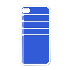 Stripes Pattern Template Texture Blue Apple Iphone 4 Case (white)