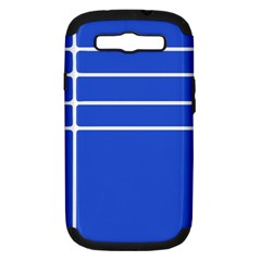 Stripes Pattern Template Texture Blue Samsung Galaxy S Iii Hardshell Case (pc+silicone)