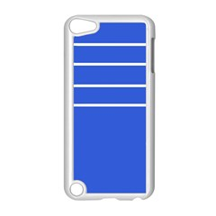 Stripes Pattern Template Texture Blue Apple Ipod Touch 5 Case (white)