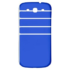 Stripes Pattern Template Texture Blue Samsung Galaxy S3 S Iii Classic Hardshell Back Case