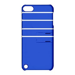 Stripes Pattern Template Texture Blue Apple Ipod Touch 5 Hardshell Case With Stand
