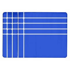 Stripes Pattern Template Texture Blue Samsung Galaxy Tab 10 1  P7500 Flip Case