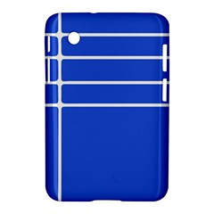 Stripes Pattern Template Texture Blue Samsung Galaxy Tab 2 (7 ) P3100 Hardshell Case