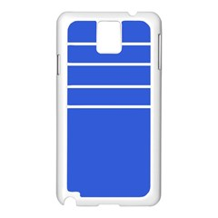 Stripes Pattern Template Texture Blue Samsung Galaxy Note 3 N9005 Case (white)