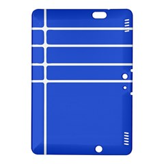 Stripes Pattern Template Texture Blue Kindle Fire Hdx 8 9  Hardshell Case