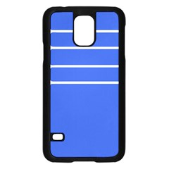 Stripes Pattern Template Texture Blue Samsung Galaxy S5 Case (black)