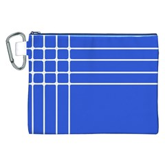 Stripes Pattern Template Texture Blue Canvas Cosmetic Bag (xxl)