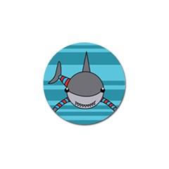 Shark Sea Fish Animal Ocean Golf Ball Marker (10 Pack)