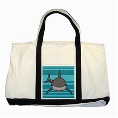 Shark Sea Fish Animal Ocean Two Tone Tote Bag