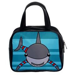 Shark Sea Fish Animal Ocean Classic Handbags (2 Sides)