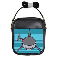 Shark Sea Fish Animal Ocean Girls Sling Bags