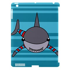 Shark Sea Fish Animal Ocean Apple Ipad 3/4 Hardshell Case (compatible With Smart Cover)