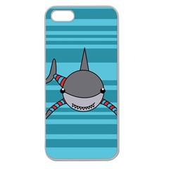 Shark Sea Fish Animal Ocean Apple Seamless Iphone 5 Case (clear)