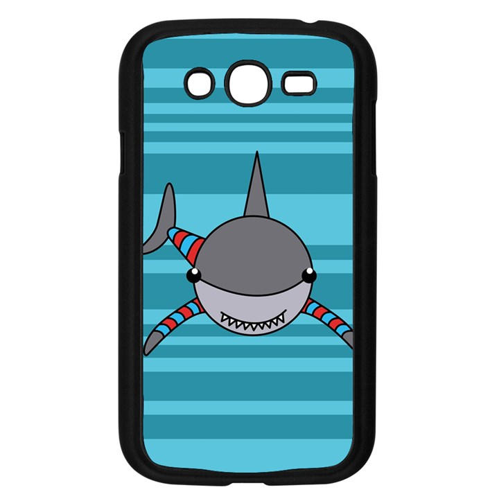 Shark Sea Fish Animal Ocean Samsung Galaxy Grand DUOS I9082 Case (Black)