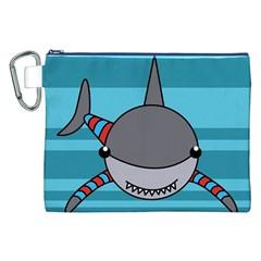 Shark Sea Fish Animal Ocean Canvas Cosmetic Bag (xxl)