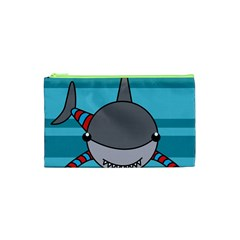 Shark Sea Fish Animal Ocean Cosmetic Bag (xs)