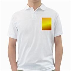 Gradient Orange Heat Golf Shirts