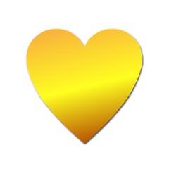 Gradient Orange Heat Heart Magnet
