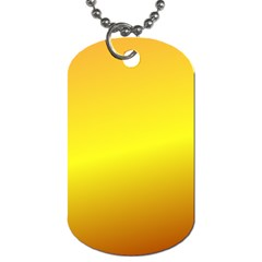 Gradient Orange Heat Dog Tag (one Side)