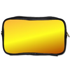 Gradient Orange Heat Toiletries Bags